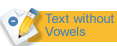 Text without vowels